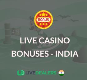 live casino bonus india