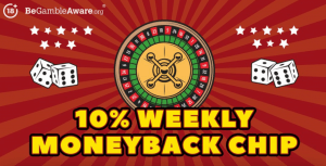 Claim a 10% Weekly Moneyback Chip on Rizk