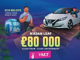 vbet_casino_launches_promo_offer_with_€80,000_pool_and_nissan_leaf